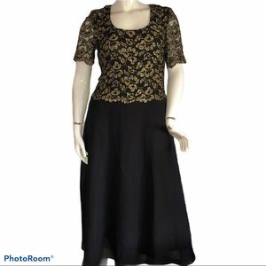 RHAPSODY metallic lace dress